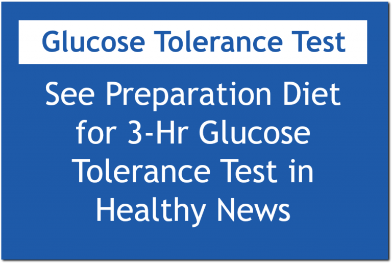 Women's Health of Chicago Diet Preparation for Glucose Test