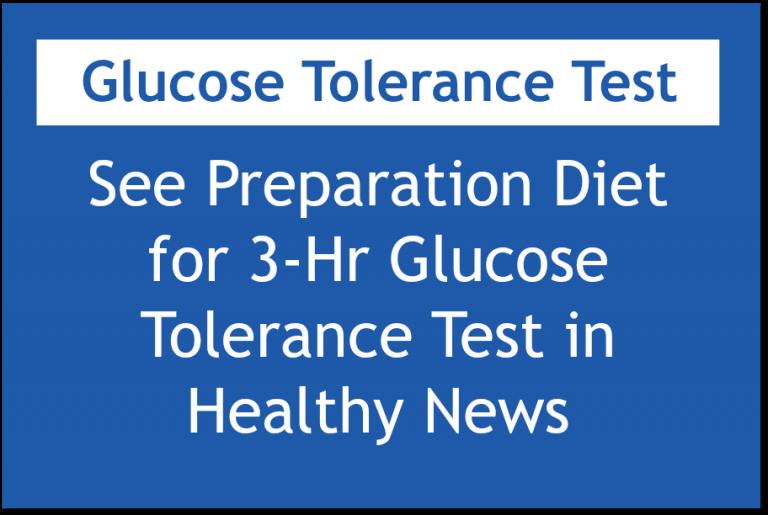 Women's Health of Chicago Diet Preparation for Glucose Test